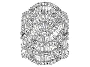 Cubic Zirconia Silver Ring 8.40ctw (6.28ctw DEW)