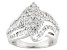 Cubic Zirconia Rhodium Over Sterling Silver Ring 3.60ctw (2.05ctw DEW)