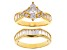 Cubic Zirconia 18k Yellow Gold Over Sterling Silver Ring With Band 4.49ctw