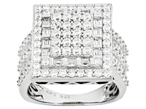 Cubic Zirconia Silver Ring 3.63ctw (2.29ctw DEW)