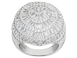 Cubic Zirconia Silver Ring 11.58ctw (7.92ctw DEW)