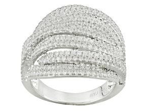 Cubic Zirconia Silver Ring 2.39ctw (1.56ctw DEW)