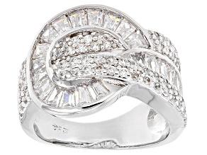 Cubic Zirconia Silver Ring 2.89ctw (1.87ctw DEW)