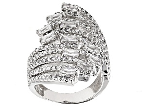 Cubic Zirconia Silver Ring 3.79ctw (2.37ctw DEW)
