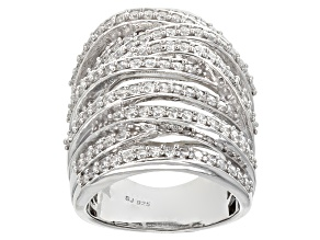 Cubic Zirconia Silver Ring 3.95ctw (2.07ctw DEW)