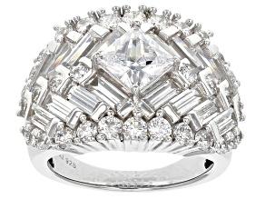 Cubic Zirconia Silver Ring 8.60ctw (5.48ctw DEW)
