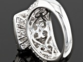 Cubic Zirconia Rhodium Over Sterling Silver Ring 4.99ctw