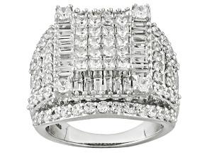 Cubic Zirconia Silver Ring 5.35ctw (3.45ctw DEW)