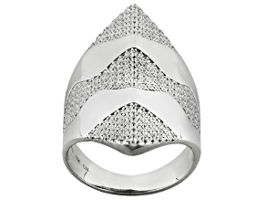 Cubic Zirconia Rhodium Over Sterling Silver Ring 2.00ctw