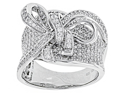 White Cubic Zirconia Rhodium Over Sterling Silver Ring 3.01ctw