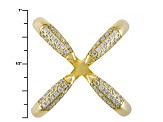 White Cubic Zirconia 18k Yellow Gold Over Sterling Silver Ring .72ctw