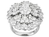 White Cubic Zirconia Rhodium Over Sterling Silver Ring 6.23ctw