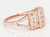 White Cubic Zirconia 18k Rose Gold Over Silver Ring 2.83ctw