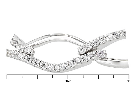 Cubic Zirconia Rhodium Over Sterling Silver Bracelet 3.54ctw
