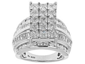 Cubic Zirconia Silver Ring 8.29ctw (4.79ctw DEW)