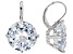 White Cubic Zirconia Rhodium Over Silver Earrings 32.22ctw