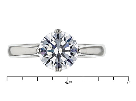 Cubic Zirconia Silver Ring With 2 Bands 4.91ctw (2.82ctw DEW)