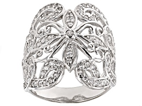 Cubic Zirconia Silver Ring 1.90ctw (1.17ctw DEW)