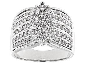 Cubic Zirconia Silver Ring 2.70ctw (1.39ctw DEW)