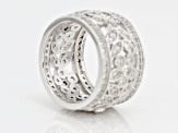 White Cubic Zirconia Rhodium Over Silver Ring 1.76ctw