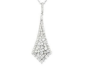 White Cubic Zirconia Rhodium Over Silver Pendant With Chain 2.77ctw