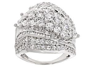 Cubic Zirconia Silver Ring 5.10ctw (3.25ctw DEW)