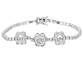 White Cubic Zirconia Rhodium Over Silver Bracelet 8.90ctw