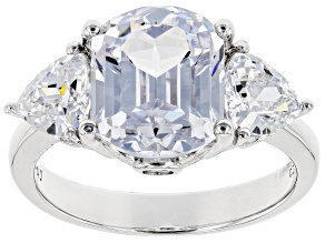 White Cubic Zirconia Rhodium Over Silver Ring 10.01ctw