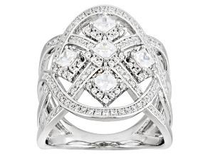 Cubic Zirconia Silver Ring 1.37ctw (1.17ctw DEW)