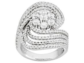 Cubic Zirconia Silver Ring 3.00ctw (1.85ctw DEW)