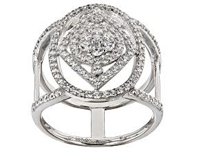 Cubic Zirconia Silvere Ring 1.54ctw (.92ctw DEW)