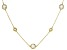 Cubic Zirconia 18K Yellow Gold Over Silver  Necklace 33.28ctw (22.96ctw DEW)