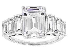 Cubic Zirconia Silver Ring 9.55ctw (7.05ctw DEW)