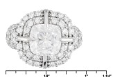White Cubic Zirconia Rhodium Over Silver Ring 12.49ctw