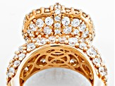 White Cubic Zirconia 18k Yellow Gold Over Silver Ring 12.49ctw