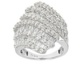 Cubic Zirconia Silver Ring 6.98ctw (5.61ctw DEW)