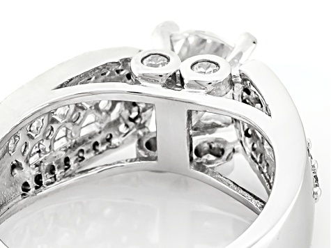 White Cubic Zirconia Rhodium Over Silver Ring 3.33ctw