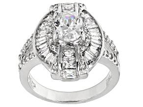 Cubic Zirconia Silver Ring 4.71ctw (2.85ctw DEW)