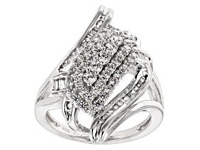 Cubic Zirconia Silver Ring 1.96ctw (1.31ctw DEW)