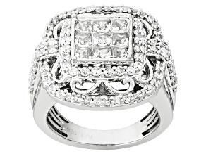 Cubic Zirconia Silver Ring 4.19ctw (2.48ctw DEW)