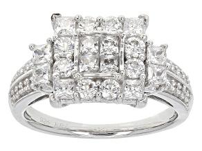 Cubic Zirconia Silver Ring 1.90ctw (.84ctw DEW)