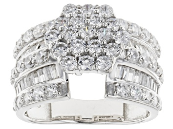 Picture of Cubic Zirconia Silver Ring 4.50ctw (2.29ctw DEW)