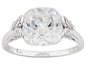 Cubic Zirconia Silver Ring 5.68ctw (3.36ctw DEW)