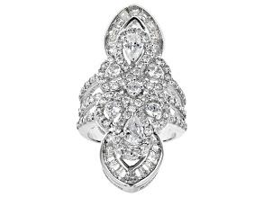 Cubic Zirconia Silver Ring 4.99ctw (3.25ctw DEW)
