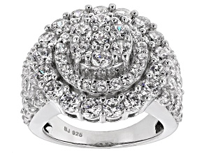 Cubic Zirconia Silvere Ring 7.90ctw (4.37ctw DEW)