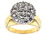 Cubic Zirconia 18k Yellow Gold Over Silver Ring 3.80ctw (2.09ctw DEW)