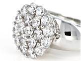 White Cubic Zirconia Rhodium Over Sterling Silver Ring 3.80ctw