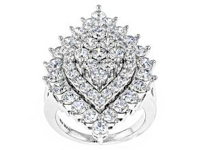 Cubic Zirconia Silver Ring 7.50ctw (4.07ctw DEW)