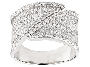 White Cubic Zirconia Rhodium Over Sterling Silver Ring 1.50ctw