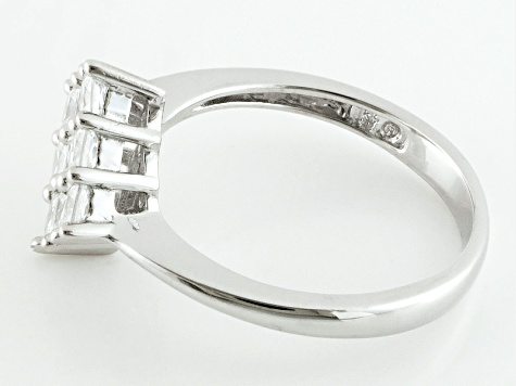 White Cubic Zirconia Rhodium Over Silver Ring 1.65ctw